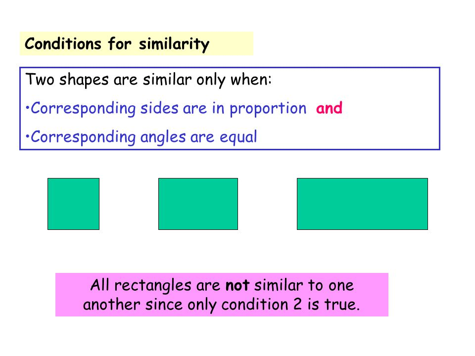 Conditions for similarity