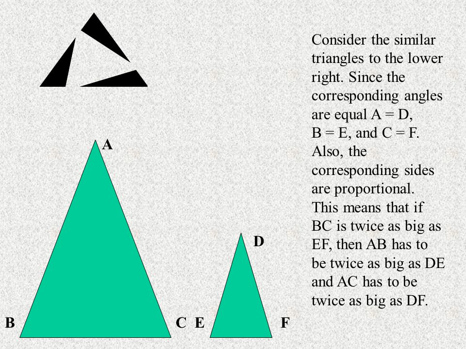 Consider the similar triangles to the lower right