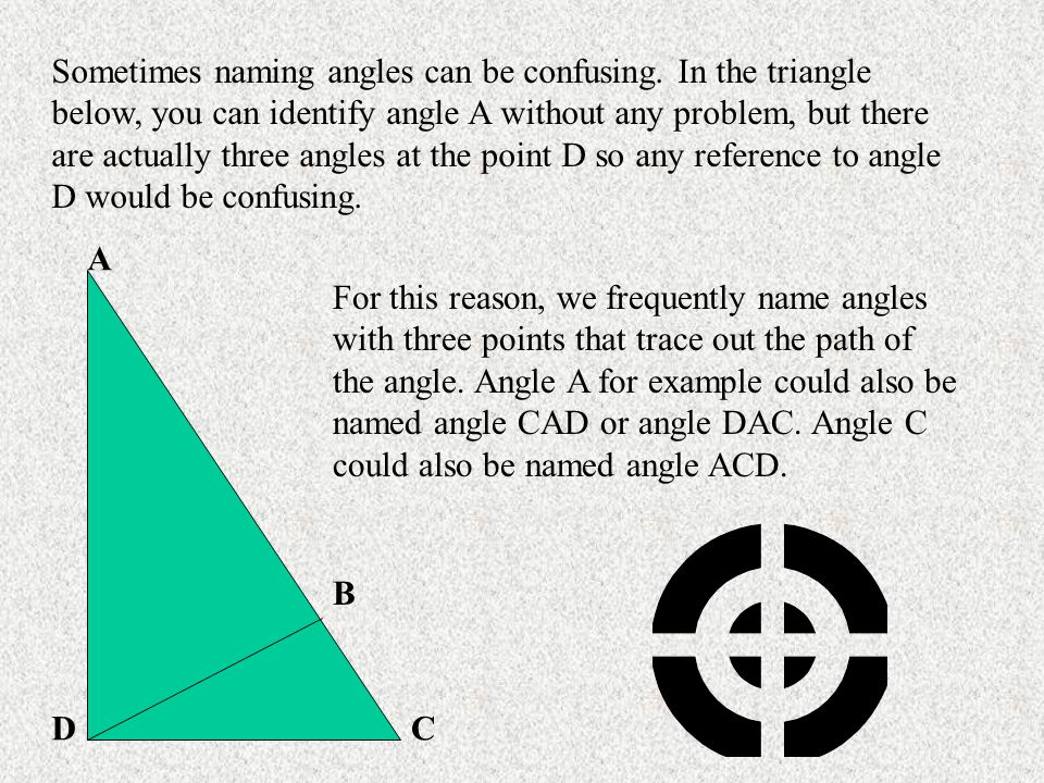 Sometimes naming angles can be confusing