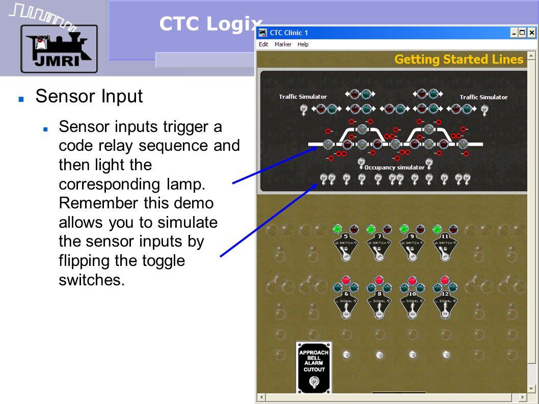 CTC Logix Sensor Input.