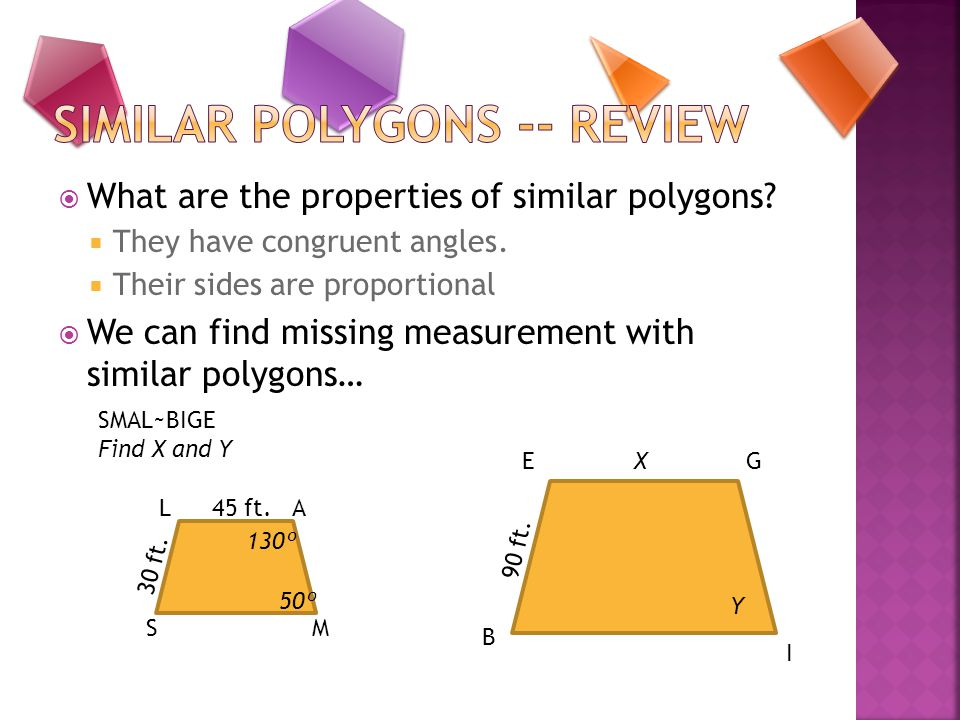 Similar Polygons -- Review