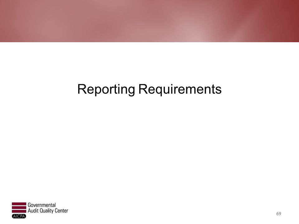 Reporting – Auditee Responsibilities