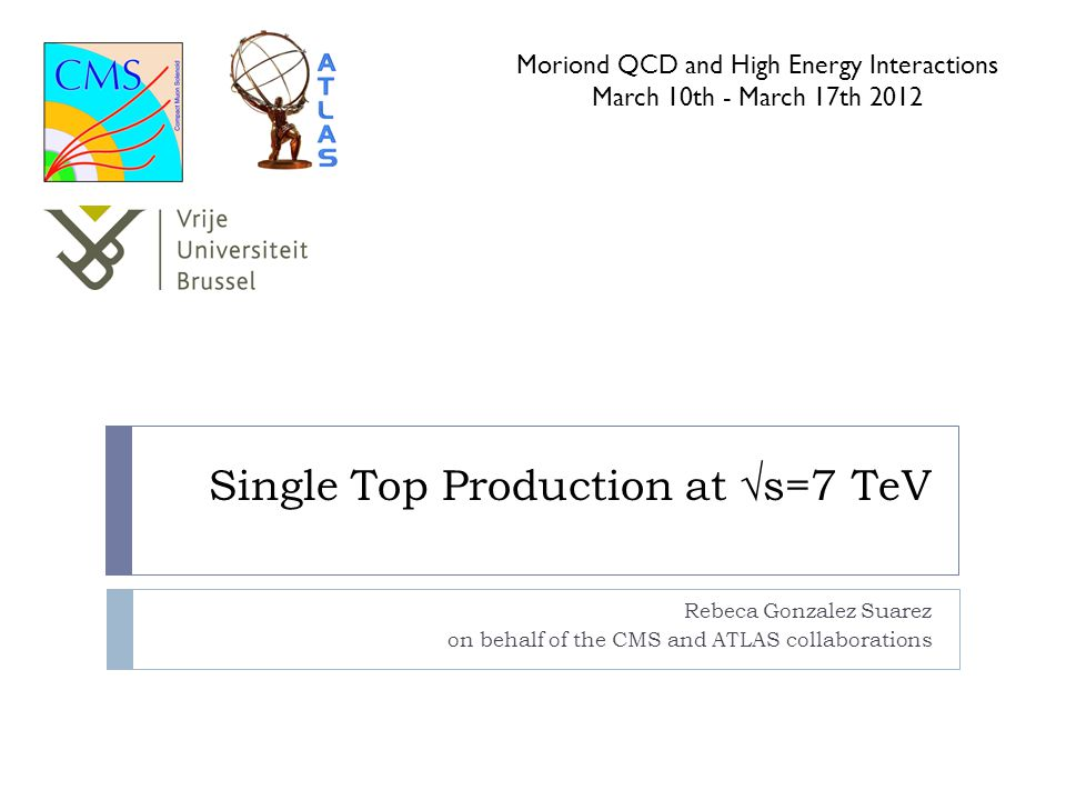 Single Top Production at √s=7 TeV