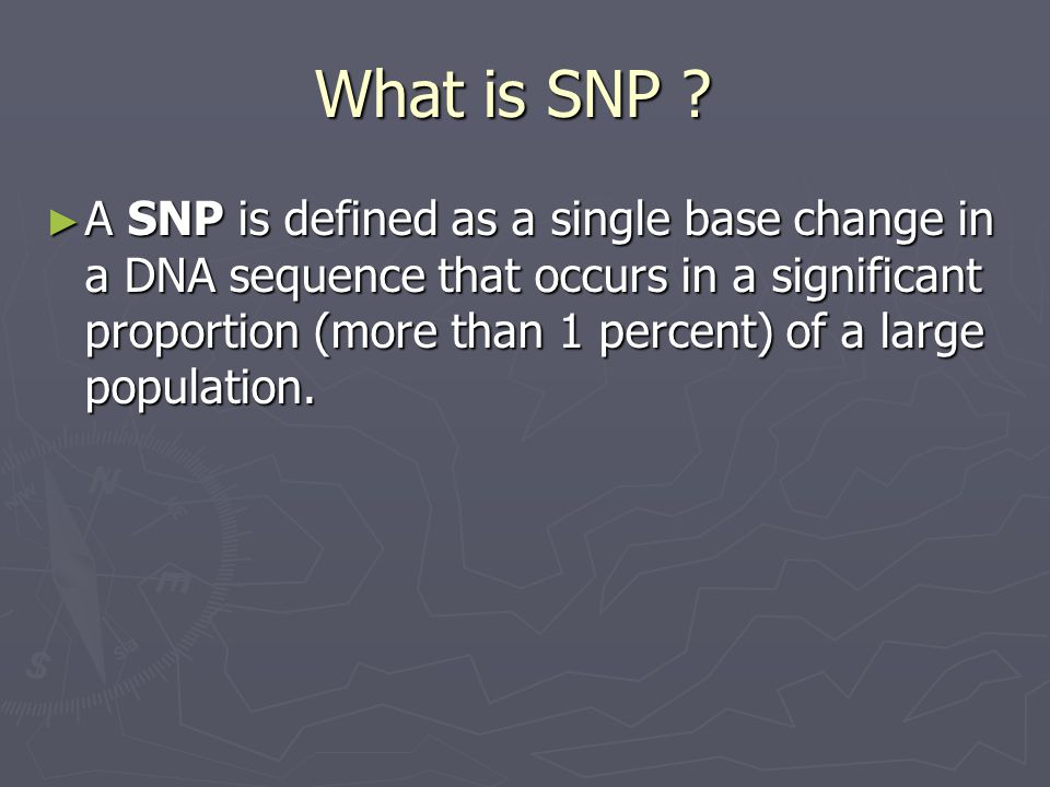 What is SNP