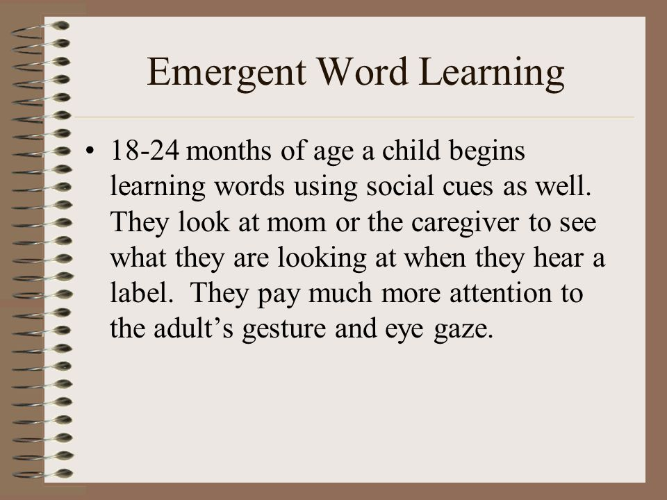 Emergent Word Learning