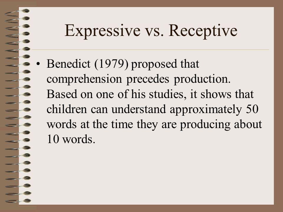 Expressive vs. Receptive