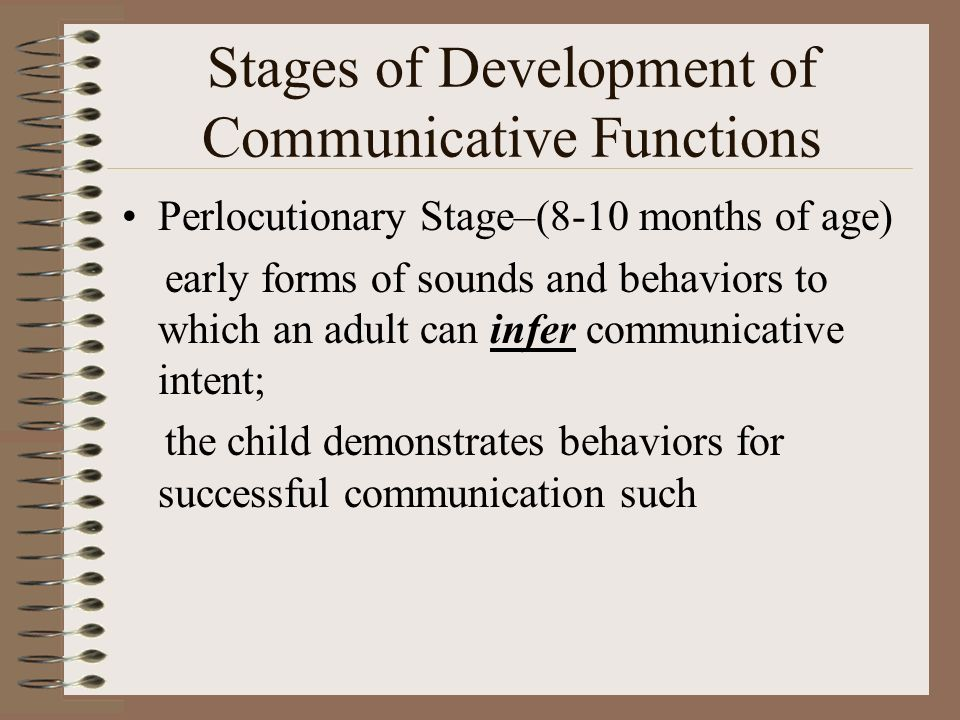 Stages of Development of Communicative Functions