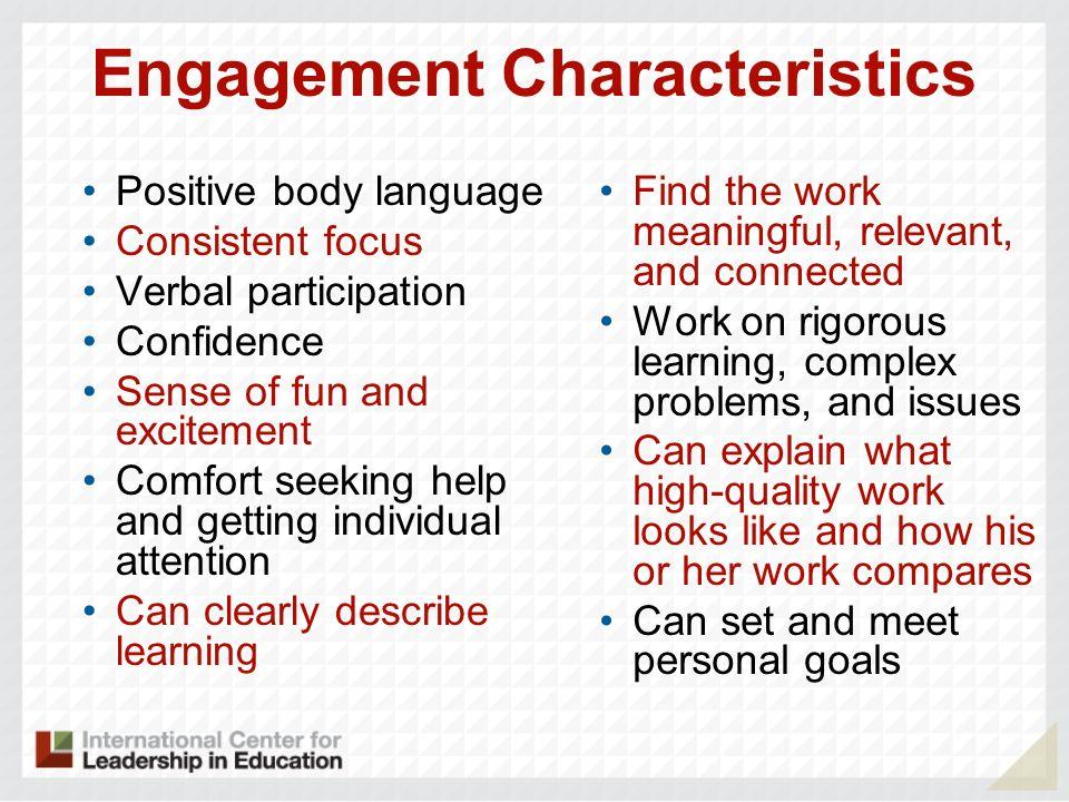 Engagement Characteristics