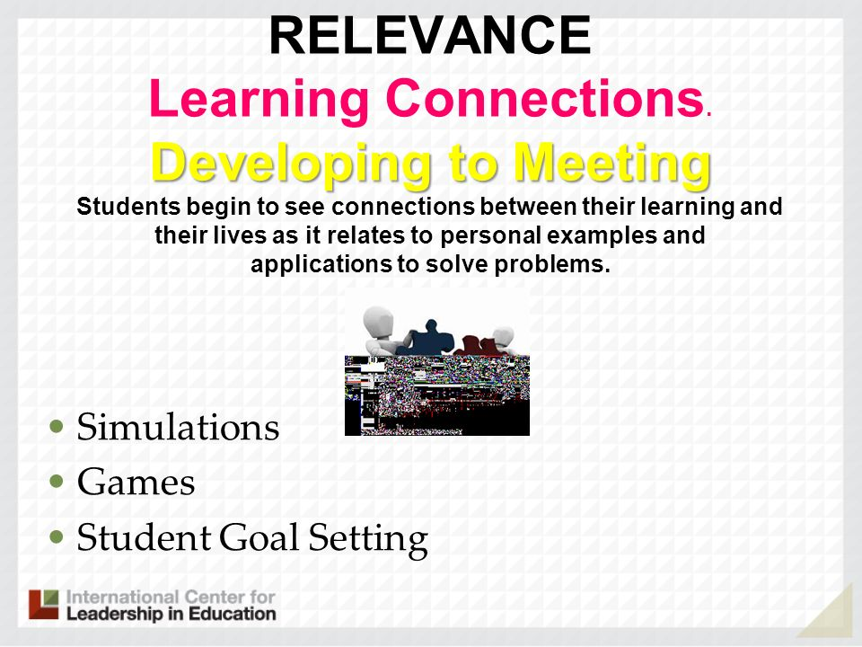 RELEVANCE Learning Connections