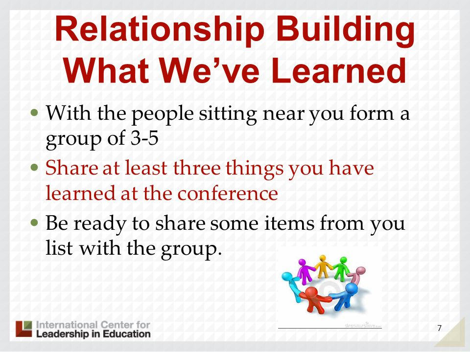 Relationship Building What We've Learned