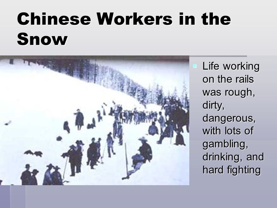 Chinese Workers in the Snow