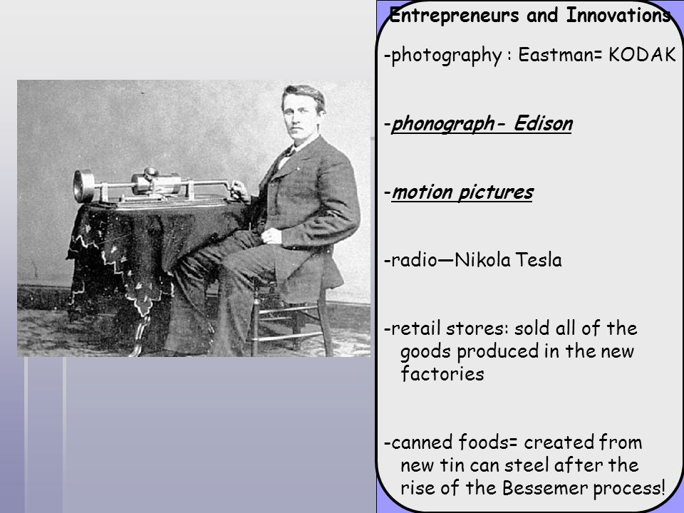 Entrepreneurs and Innovations
