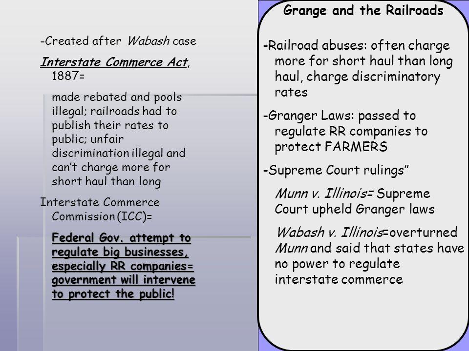 Grange and the Railroads