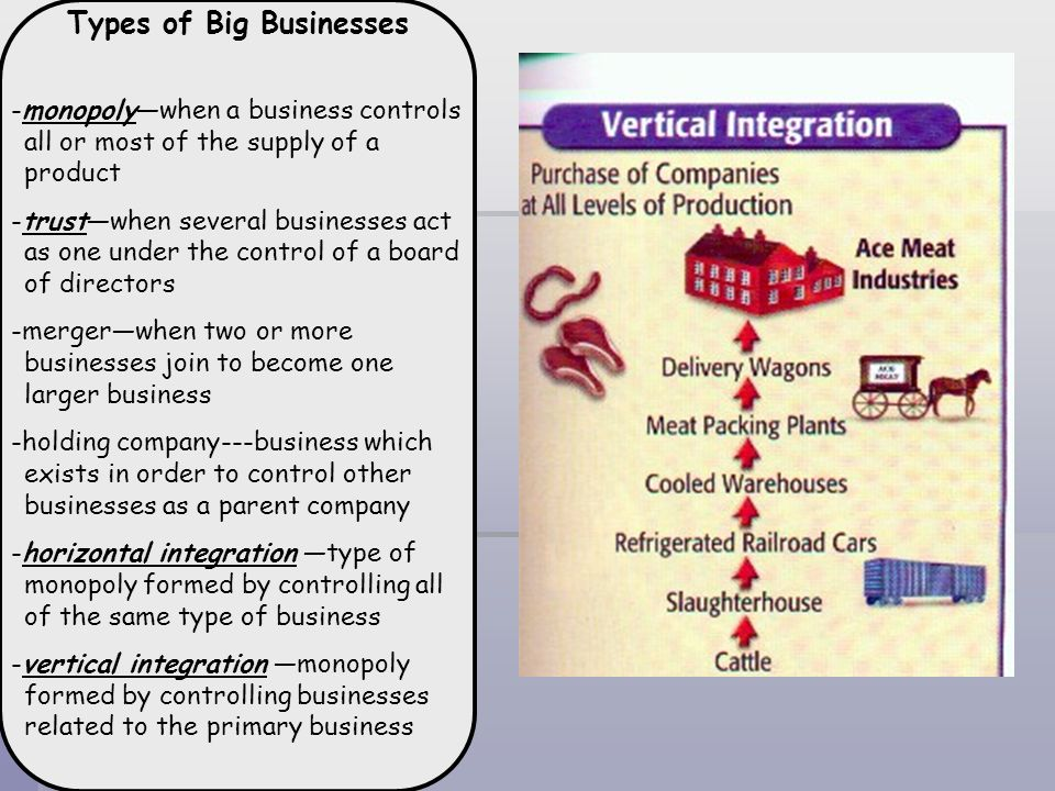 Types of Big Businesses