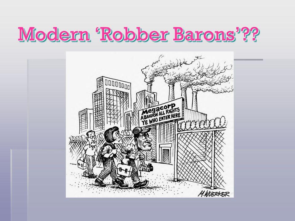 Modern 'Robber Barons'
