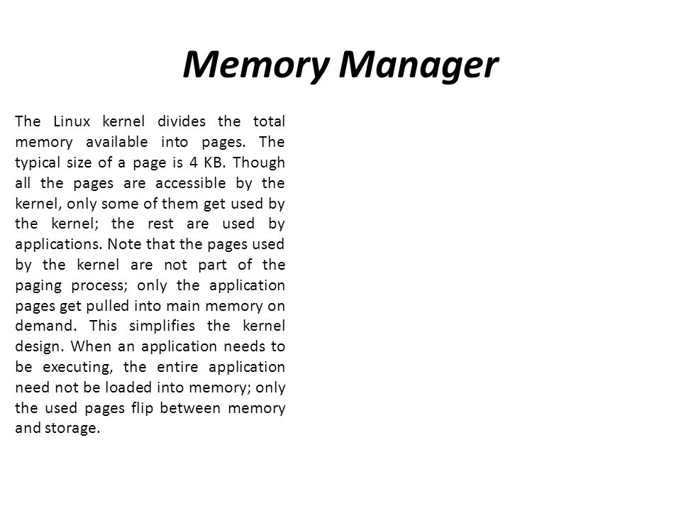 Memory Manager