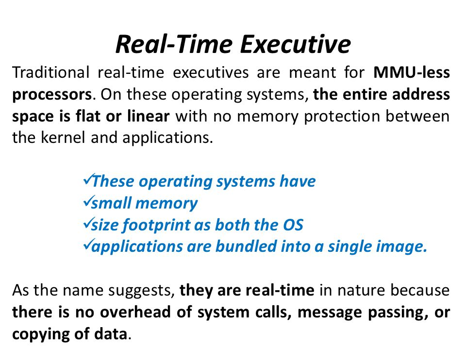 Real-Time Executive