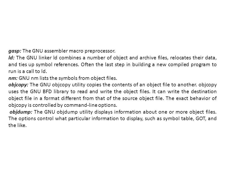 gasp: The GNU assembler macro preprocessor.