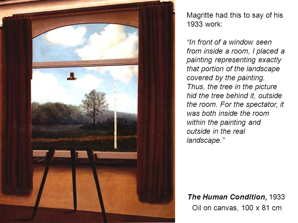 Magritte had this to say of his 1933 work: