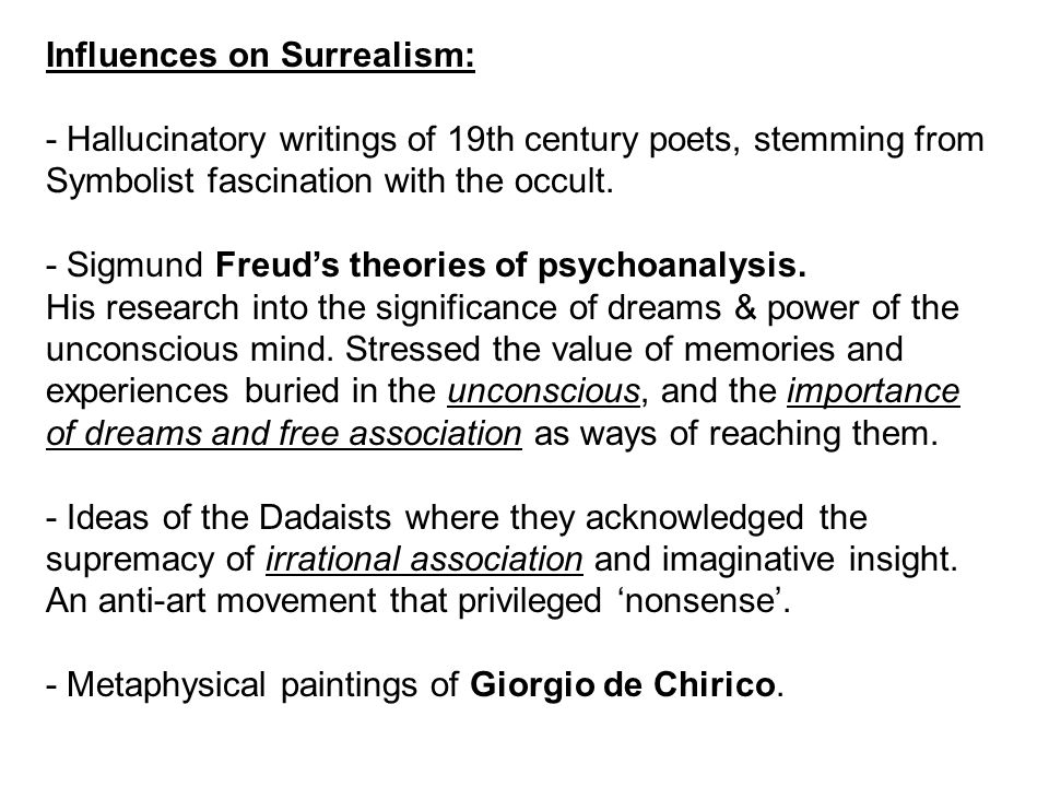 Influences on Surrealism: