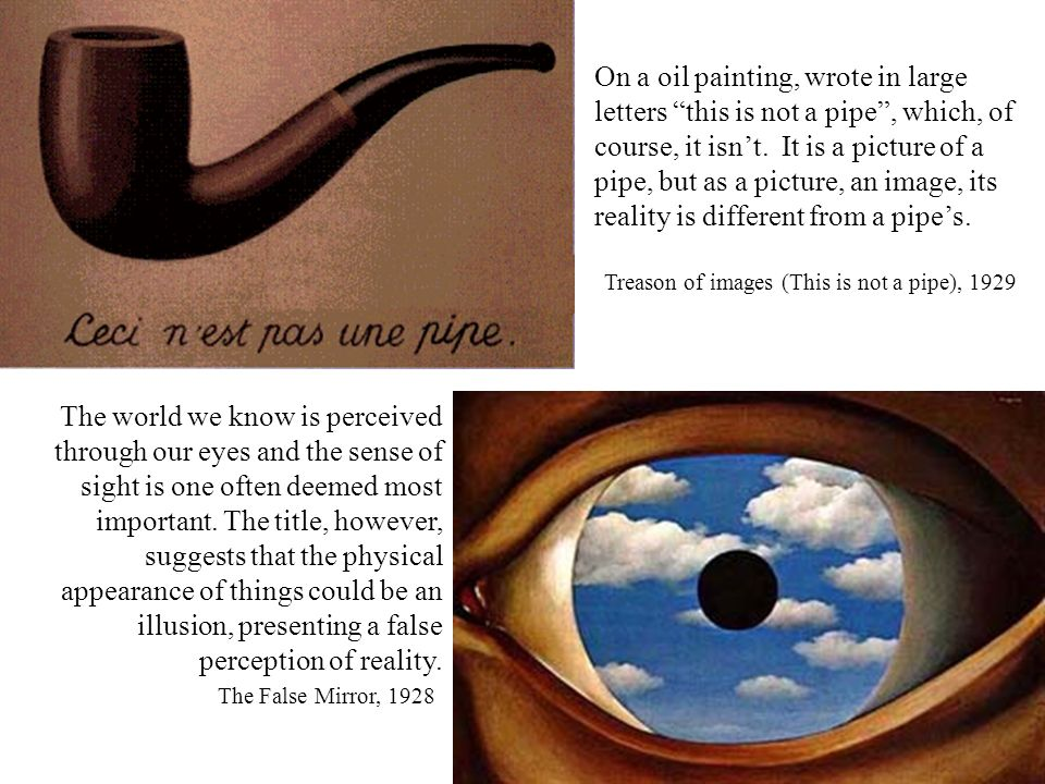 Treason of images (This is not a pipe), 1929