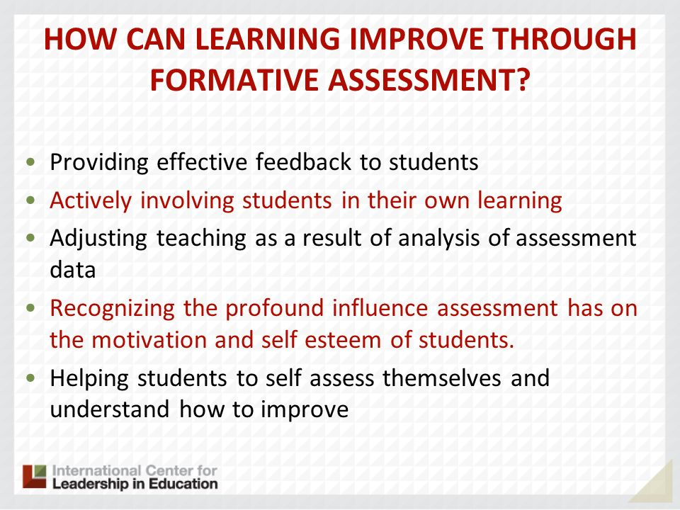 HOW CAN LEARNING IMPROVE THROUGH FORMATIVE ASSESSMENT