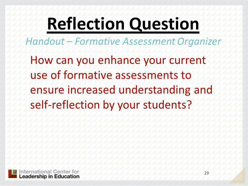 Handout – Formative Assessment Organizer