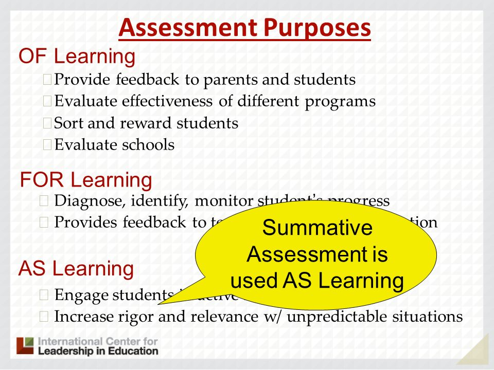 Assessment Practices That Enhance Instruction And Learning Alisa H