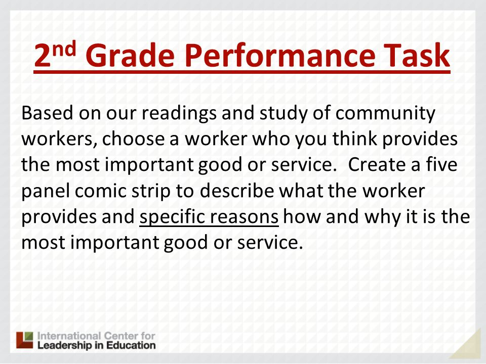 2nd Grade Performance Task
