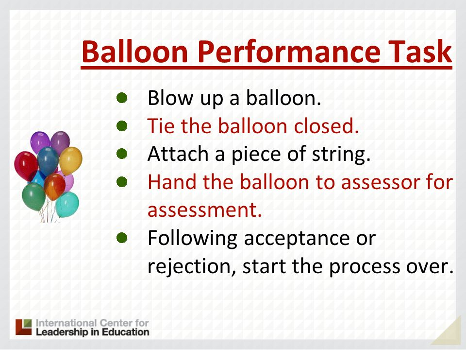 Balloon Performance Task