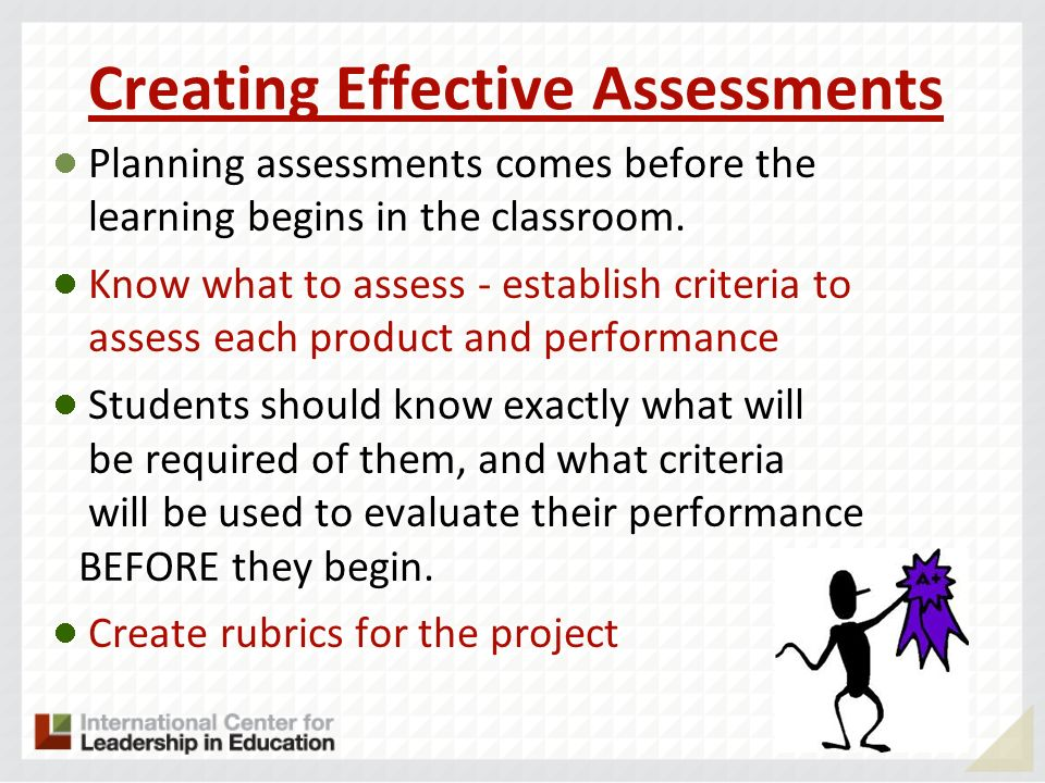 Creating Effective Assessments