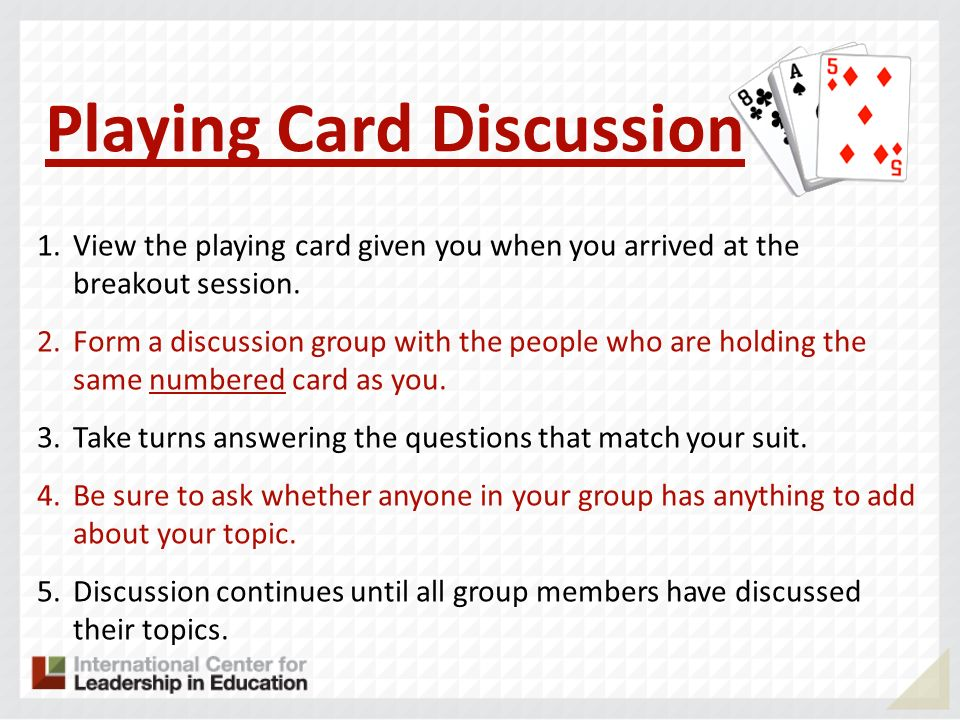 Playing Card Discussion