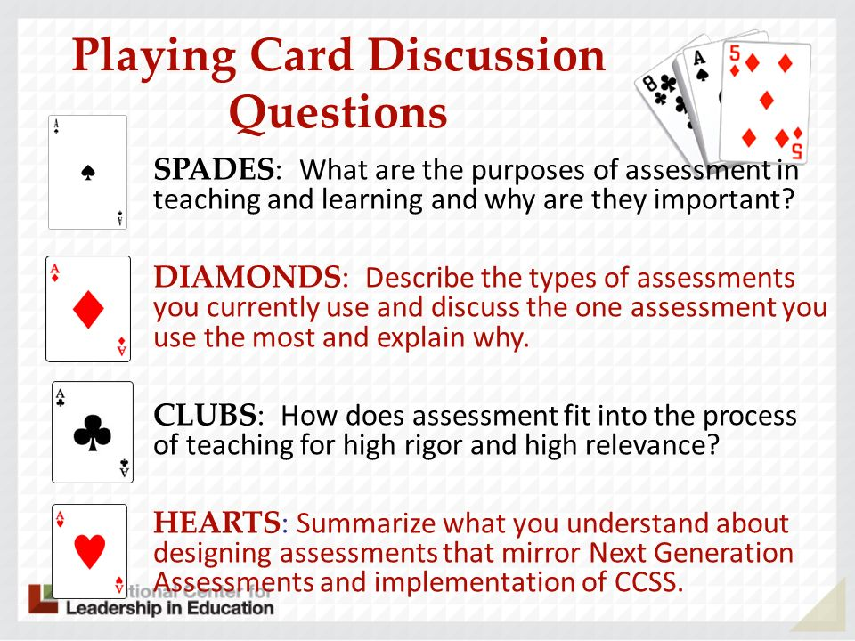 Playing Card Discussion Questions