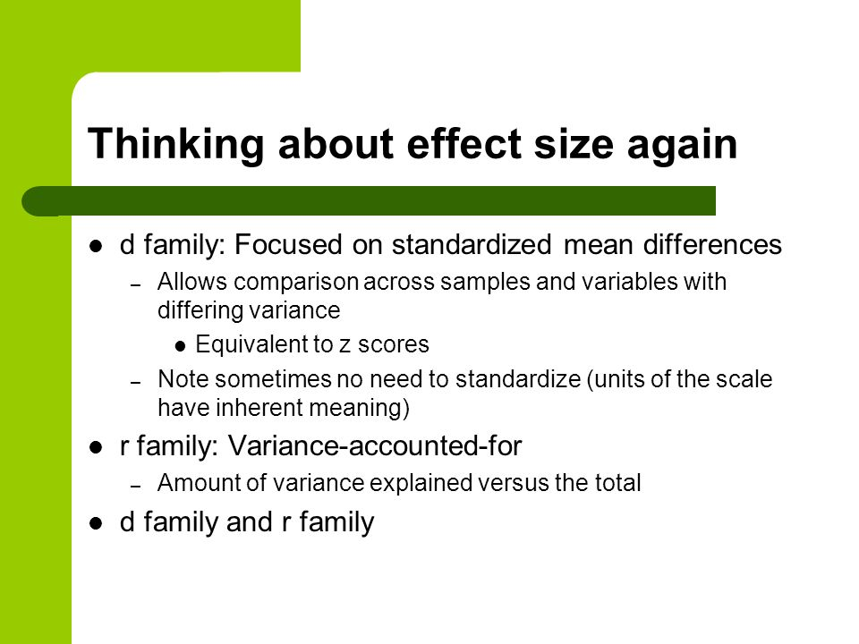 Thinking about effect size again