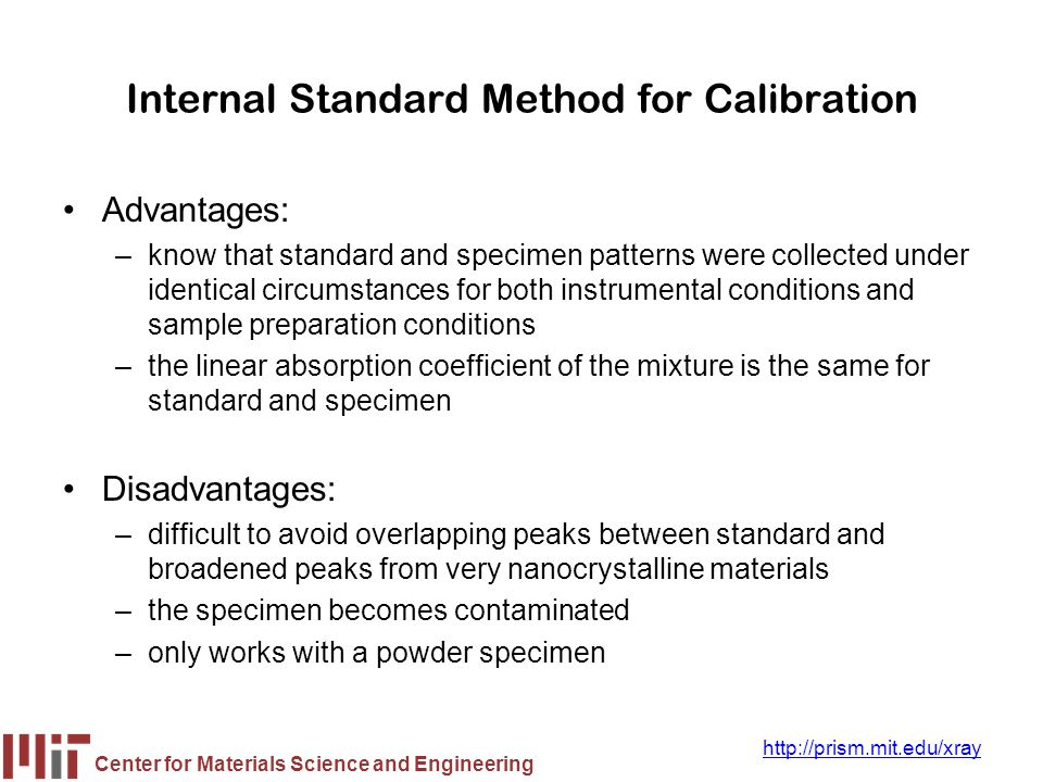 Internal Standard Method for Calibration