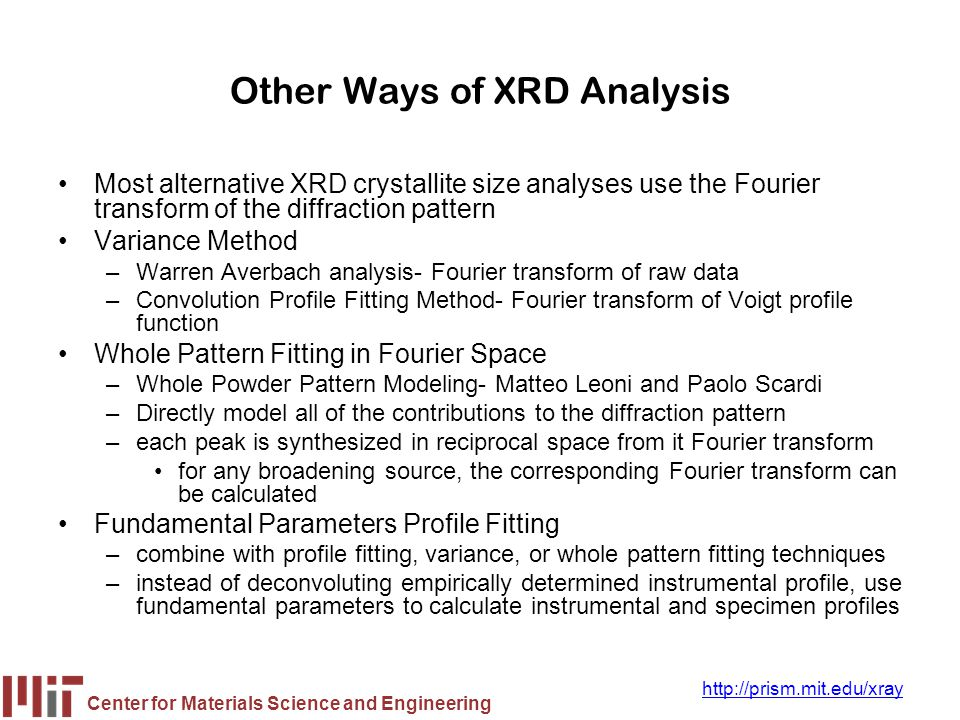 Other Ways of XRD Analysis