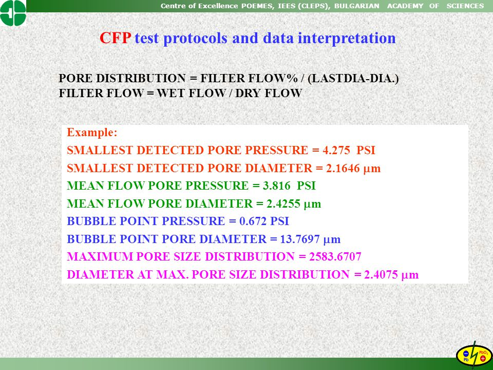 CFP test protocols and data interpretation