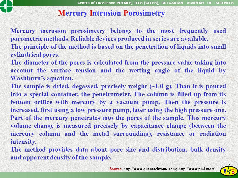 Mercury Intrusion Porosimetry