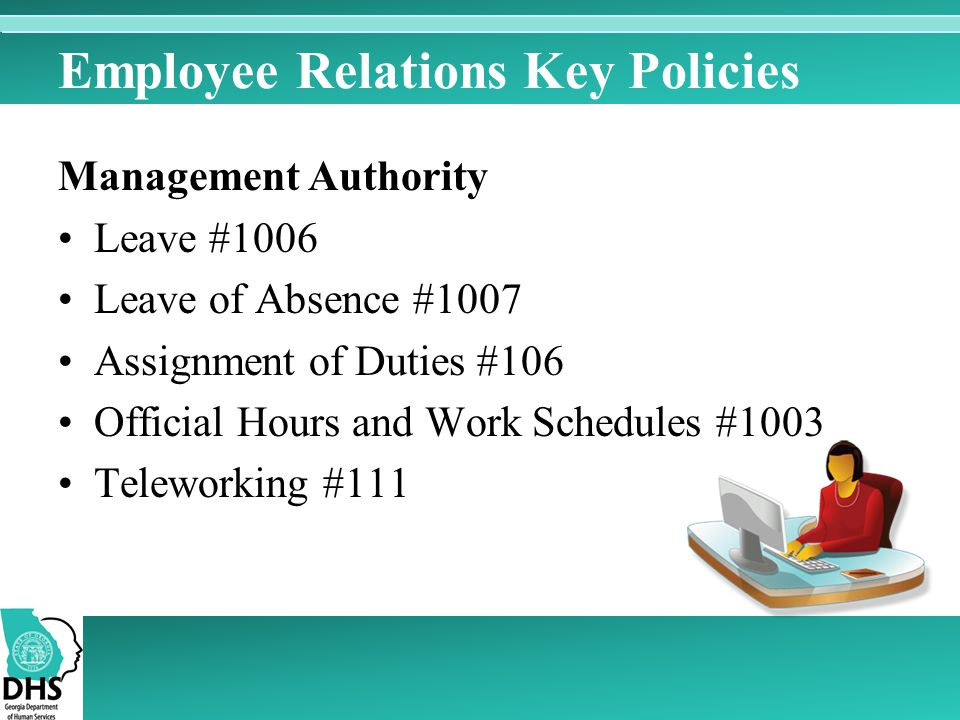 Employee Relations Key Policies