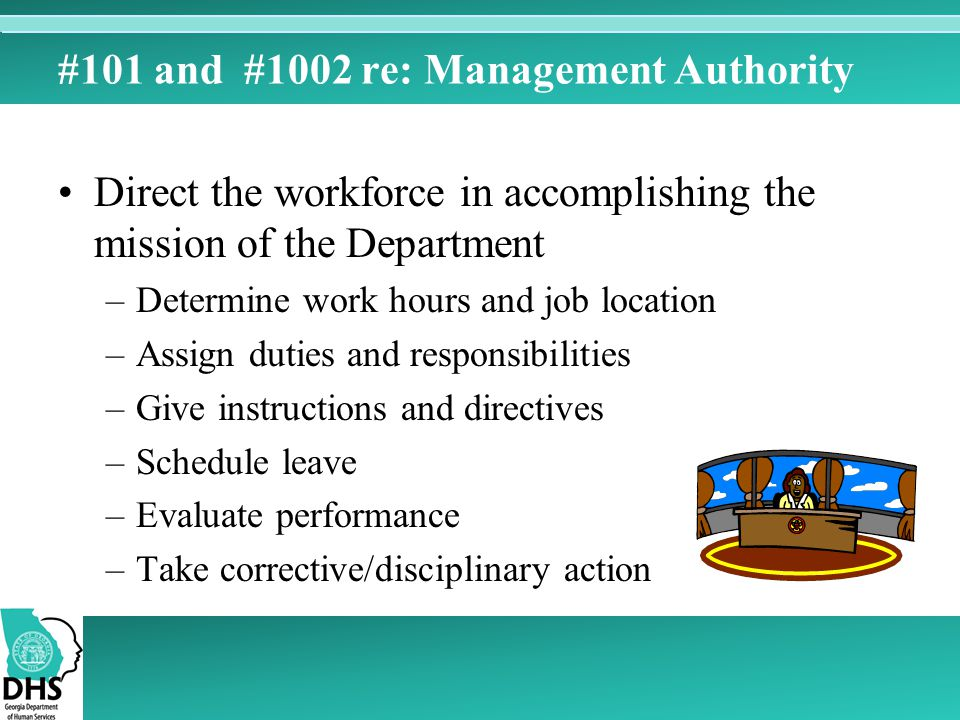 #101 and #1002 re: Management Authority