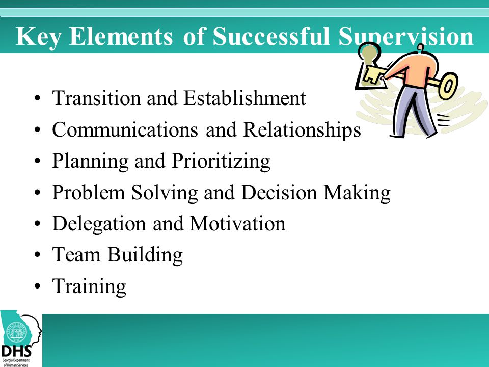 Key Elements of Successful Supervision