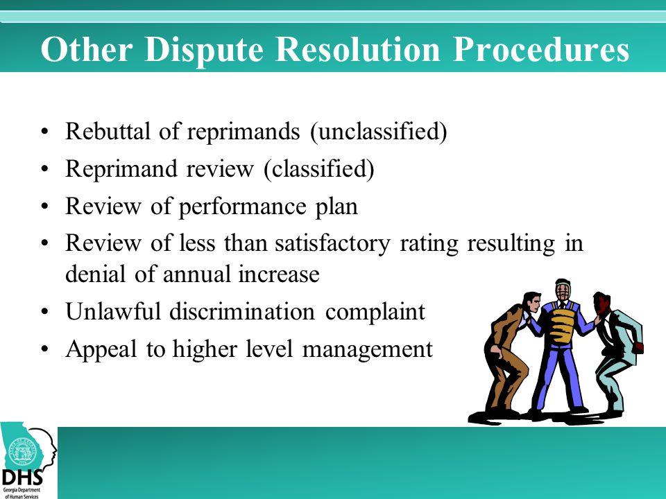 Other Dispute Resolution Procedures