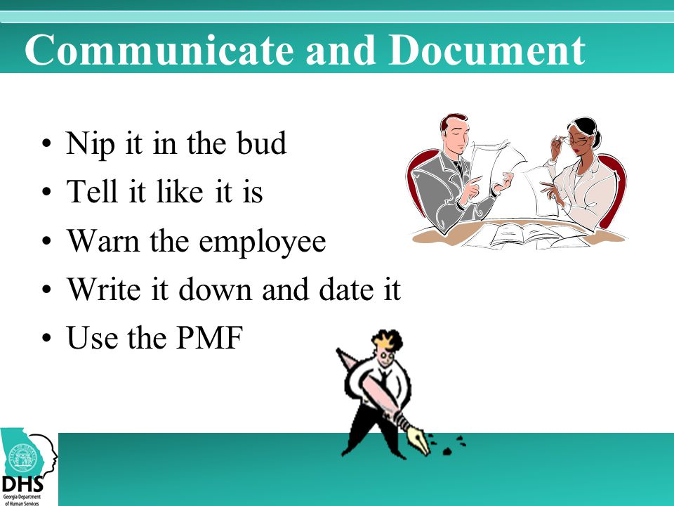 Communicate and Document