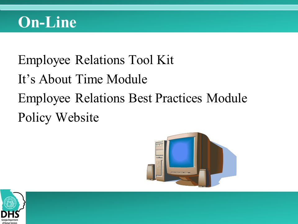 On-Line Employee Relations Tool Kit It's About Time Module