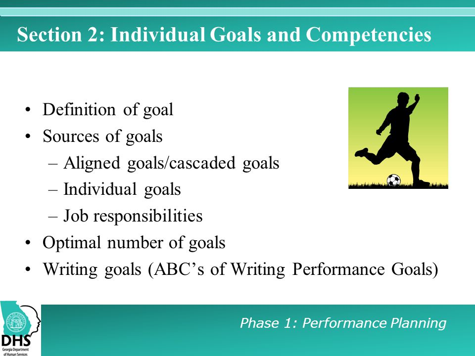 Section 2: Individual Goals and Competencies