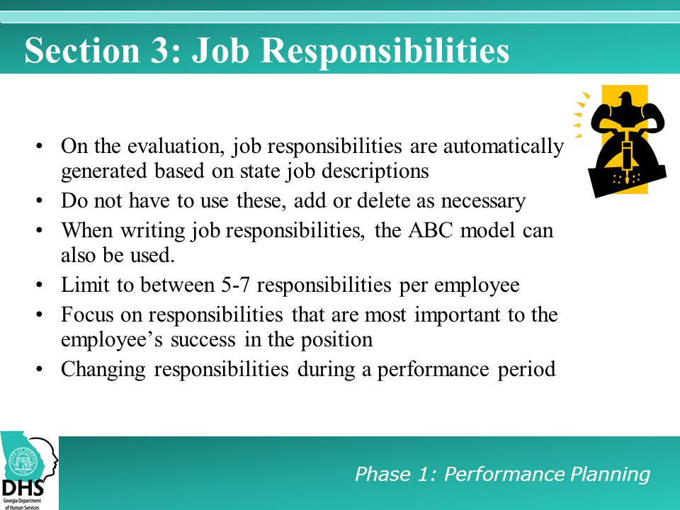 Section 3: Job Responsibilities