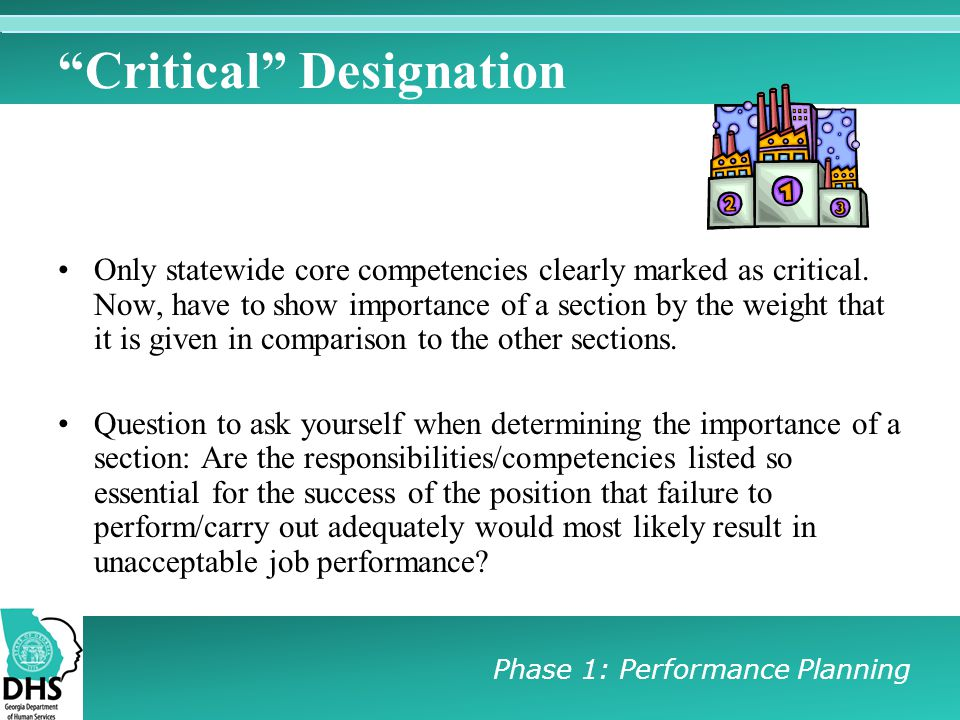 Critical Designation