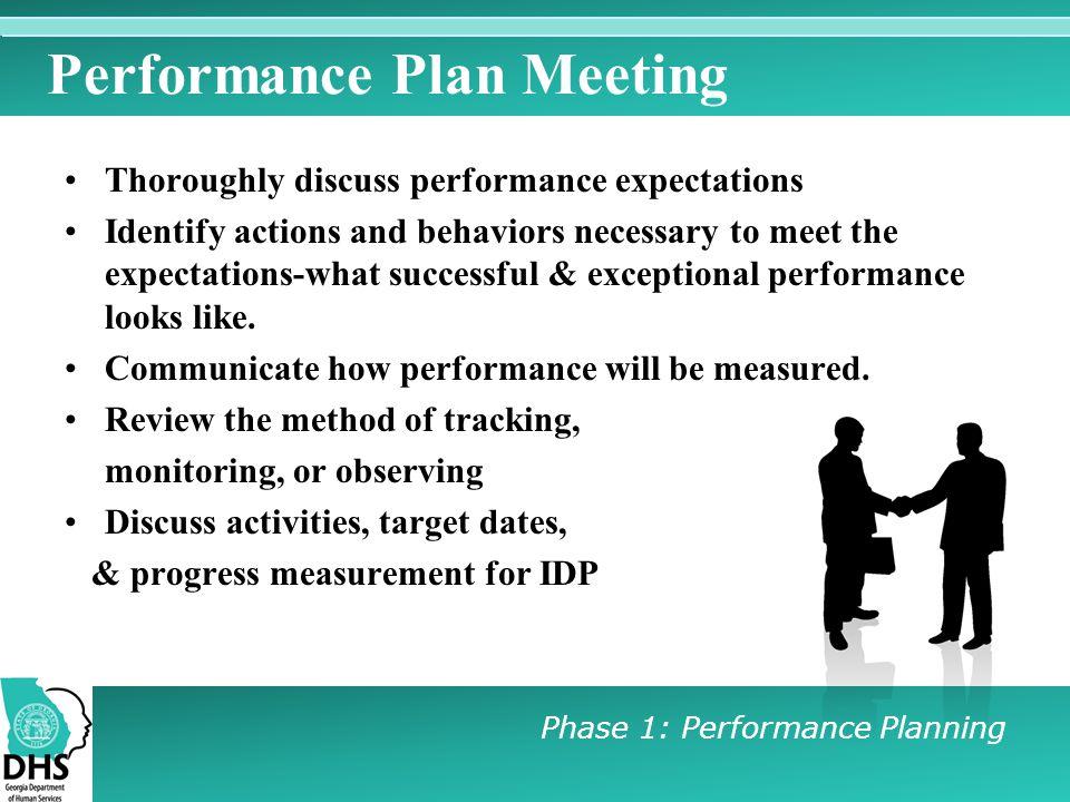 Performance Plan Meeting
