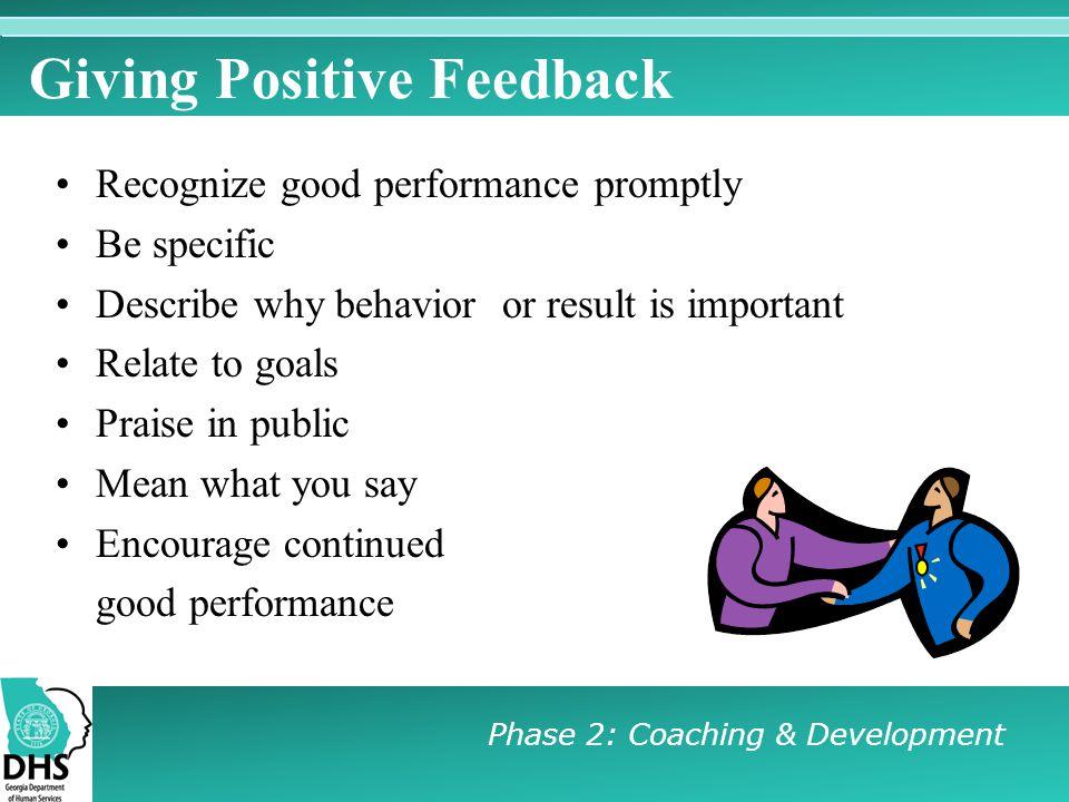 Giving Positive Feedback
