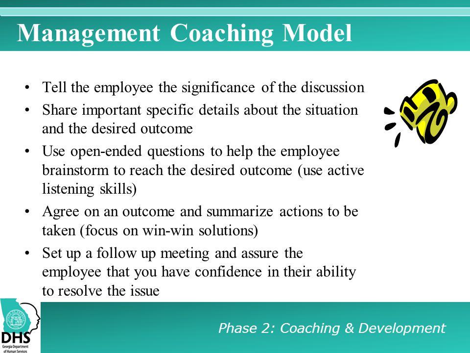 Management Coaching Model
